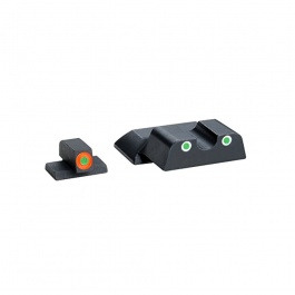 AmeriGlo Cus Tritium Combination Sight S&W Shield Green/Orange-Green AMGSW745