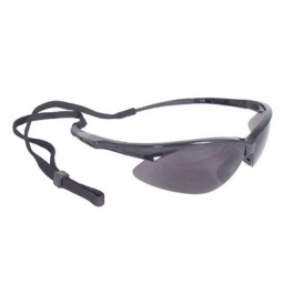 Radians Outback Shooting Glasses Black Frame Smoke Lens w/Cord OBO120CS