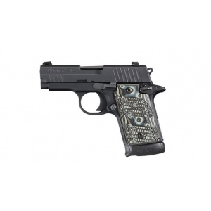 "SIG P938 Extreme 9mm 6rd 3"" Black/Grey Night Sights G10 Grips 938-9-XTM-BLKGRY-AMB"