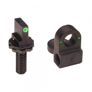 AmeriGlo Tritium Front/Rear Rifle Sights AR-15/Clones Green AMGAR250