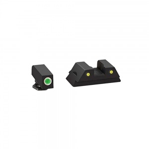 AmeriGlo Pro Operator Night Sight Glock 42/43 Green-Yellow AMGGL383