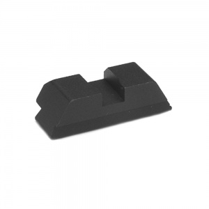 AmeriGlo Black Classic Notch Rear Sight Glock 17 .256-.130 AMGGL400130