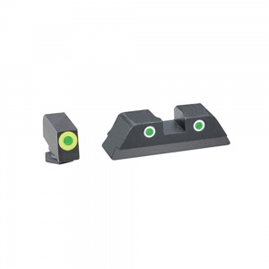 AmeriGlo Cus Tritium Combination Sight Glock 42/43 Green/Green-Green AMGGL743