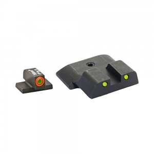 AmeriGlo Spartan 3 Dot Night Sight S&W M&P Green/Orange-Yellow/Black AMGSW447