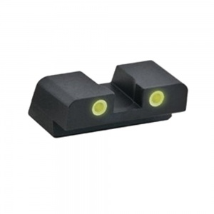 AmeriGlo Yellow Tritium Rear Sight Sig Sauer XD N10 Black Outline .27-.15 AMGXD193R