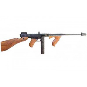 "Auto Ordnance 1927A1 Deluxe Rifle .45ACP 18"" Barrel Walnut Stock 30rd Black T1"