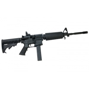 "CMMG M4A3 9mm 16"" Bird Cage Black 32rd"