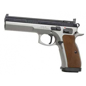"""CZ-USA 75 Tactical Sport 9mm 5.4"""" Barrel Fixed Target Sights 20rd Two-Toned 91172"""