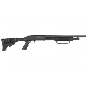 "Mossberg Model 500 Tactical 12 Gauge 18.5"" 6rd Matte Blue Cyl"