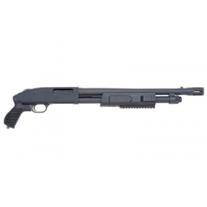 "Mossberg Model 500 Flex Tactical 12 Gauge 18.5"" Blue Pistol Grip"