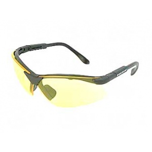 Radians Revelation Safety Glasses Black Frame Amber Lens RV0140CS