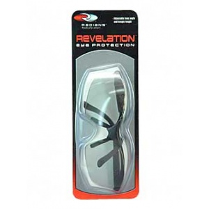 Radians Revelation Safety Glasses Black Frame Light Smoke Lens RV01G0CS