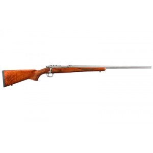 """Ruger 77/17 .17WSM 24"""" Matte Stainless 6rd Wood"""