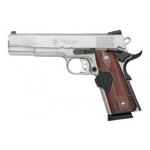 "S&W Model 1911CT E .45ACP 5"" Stainless 8rd Crimson Trace Laser Green"