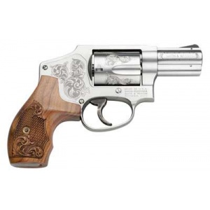 "S&W Model 640 CENT 2 1/8"" 5rd Stainless Wood Grips Engraved"