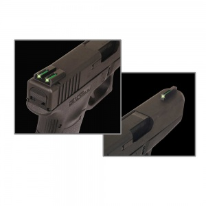 TruGlo TFO™ Tritium/Fiber-Optic Day/Night Sights (Green/Yellow) - Glock 42/43 TG131GT1B