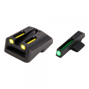 TruGlo TFO Tritium/Fiber-Optic Day/Night Sights (Green/Yellow) Novak Lomount L/H 1911 .45ACP TG131NT3Y