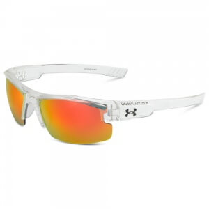 Under Armour Nitro L Shiny Clear Frame Gray/Orange Multiflection Lens
