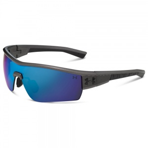 Under Armour Fire Satin Carbon/Black Frame Gray/Blue Multiflection Lens