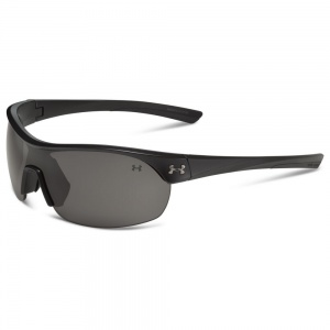 Under Armour Marbella Shield Satin Black Frame Gray Lens