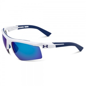 Under Armour Core 2.0 Shiny White/Navy Frame Gray/Blue Multiflection Lens