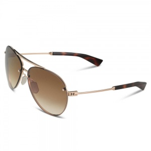 Under Armour Dbl Down Shiny Gold/Tortoise Frame Brown Gradient Lens