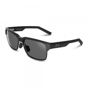 Under Armour All Biz Storm Satin Black Frame Gray Polarized Lens