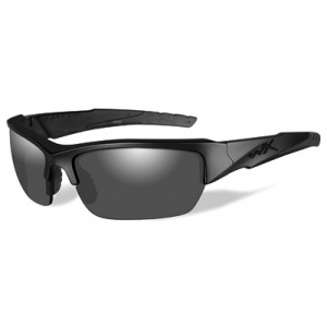 Wiley X Valor Black Ops Tactical Eyewear Black Matte Frame Polarized Smoke Grey Lens CHVAL08
