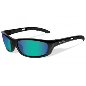 Wiley X P-17GM Outdoors Tactical Eyewear Polarized Gloss Black Frame Emerald Green Lens P-17GM