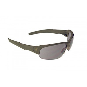 Radians Remington T83 Shooting Glasses Green Frame Smoke Lens RADT83-20C