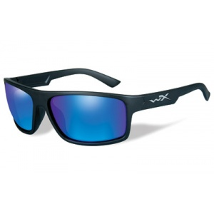 Wiley X Peak Outdoors Tactical Eyewear Black Matte Frame Polarized Blue Mirror Lens ACPEA09