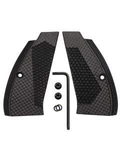 CZ 75 85 Compact Super Slim Carbon Fiber Grips Black